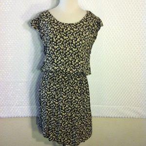 H&M Floral Flutter Cap Sleeve Dress